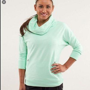 Lululemon Mint Green Cowl Neck LS Sweatshirt